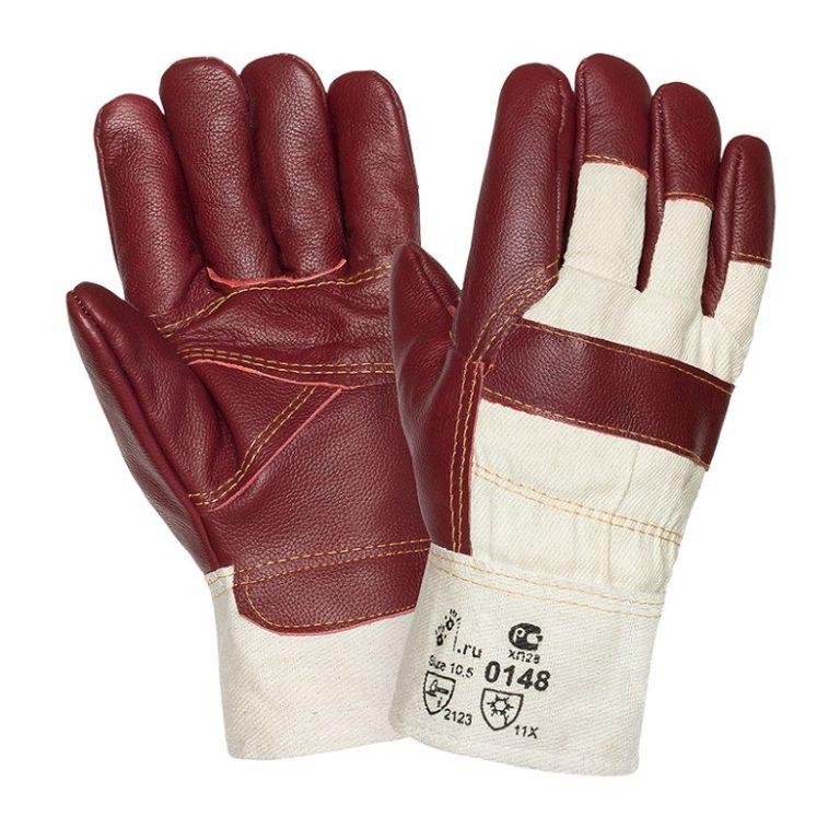 """Кожаные комбинированные зимние перчатки """"TZ-60"""""""