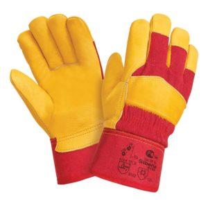 """Кожаные комбинированные утепленные перчатки """"TZ-90 Siberia"""""""