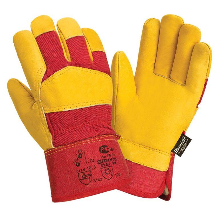 """Кожаные комбинированные утепленные перчатки """"TZ-91 Siberia Thinsulate"""""""