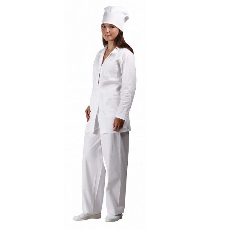 """Костюм повара женский """"Модель-140"""" 100% хлопок с брюками"""