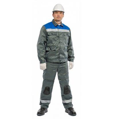 """Костюм рабочий """"Броня"""" с брюками и встроенными наколенниками"""