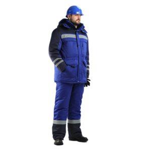 Костюм рабочий «Полярник» с брюками (тк. Смесовая)