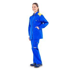 Костюм рабочий женский «Альпы» 100% хлопок с брюками