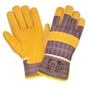 Спилковые комбинированные зимние перчатки «TZ-59»