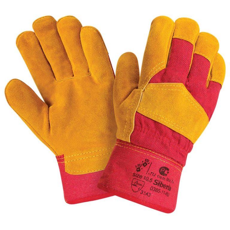 """Спилковые комбинированные утепленные перчатки """"TZ-86 Siberia"""""""