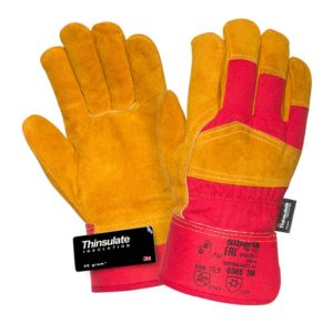 """Спилковые комбинированные утепленные перчатки """"TZ-87 Siberia Thinsulate"""""""