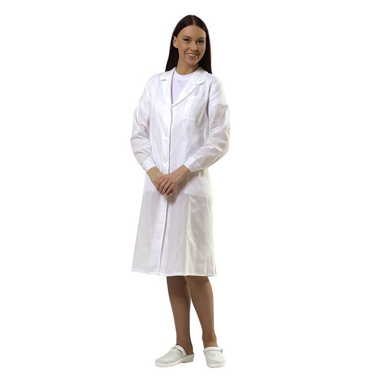 Халат рабочий женский «Модель-14» 100% хлопок(бязь), пл. 145 гр/м.