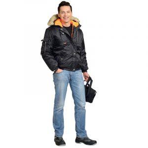 Куртка рабочая зимняя «Аляска» укороченная (тк. Оксфорд)