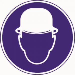 Знак Работать в защитной каске