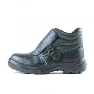 Ботинки для сварщика «Строитель» ПУ/НИТРИЛ, МП (иск. мех)