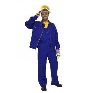 Костюм рабочий «Трудовик» куртка с полукомбинезон 100% хлопок