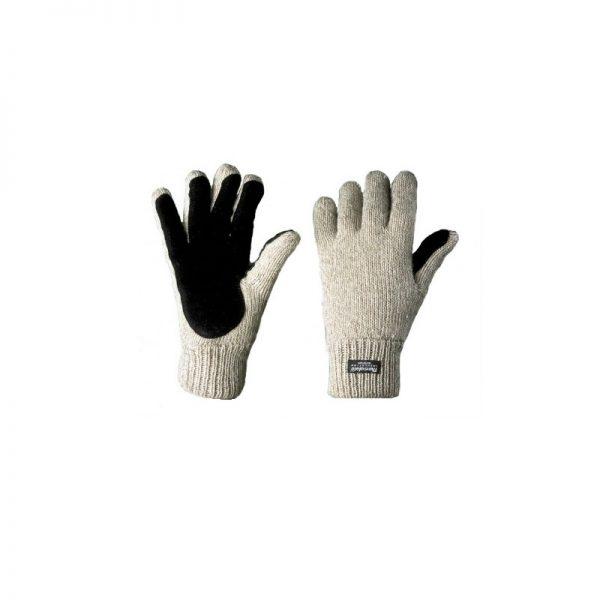 Перчатки шерстяные со спилковыми накладками «Хаски»